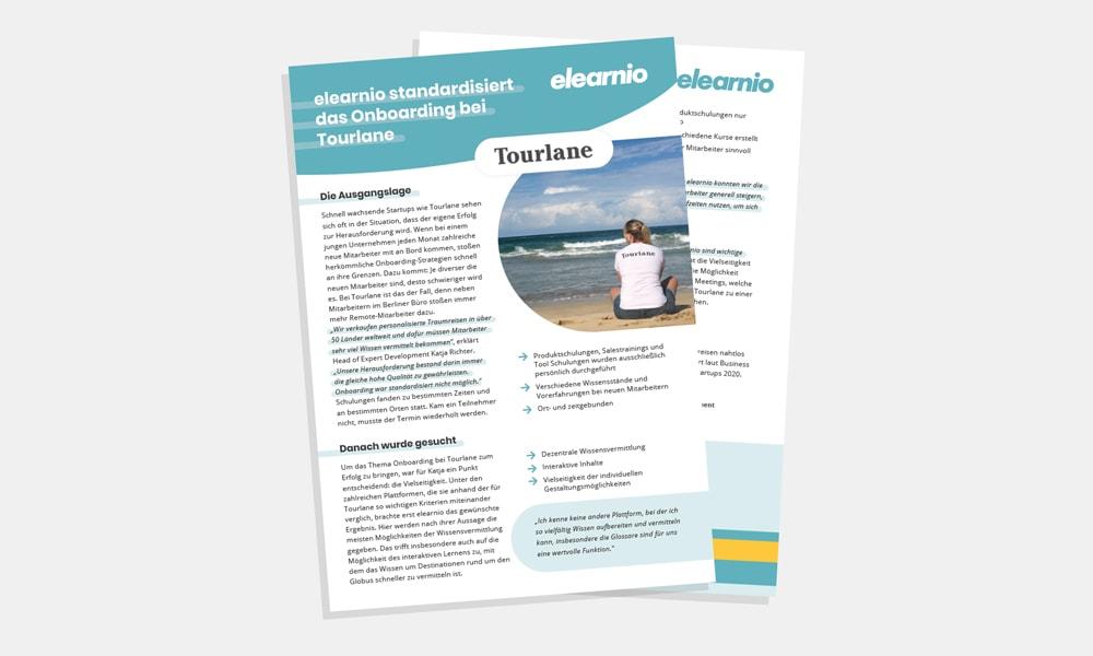 Vorschaubild der Case Study von elearnio und Tourlane