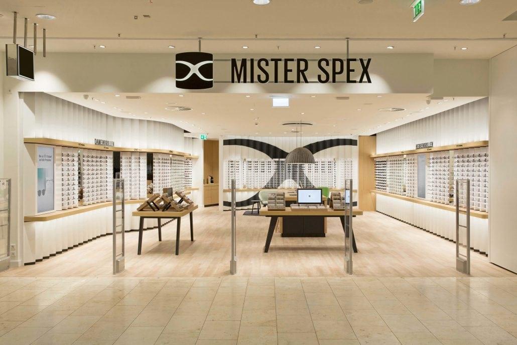 Bild vom Eingang des Mister Spex Stores in Essen