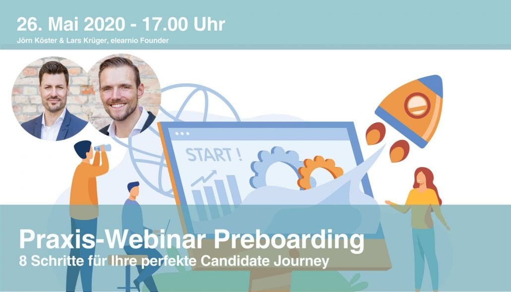 Das ist das Banner zum Praxis-Webinar Preboarding