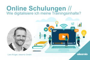Banner zum Webinar Online Schulungen