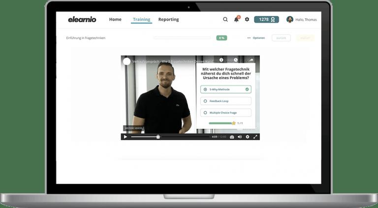 Interaktive Videos in elearnio